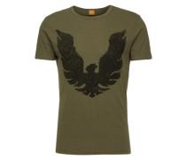 T-Shirt mit Print 'Touchback 2' dunkelgrün