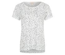 T-Shirt mit Allover-Print weiß