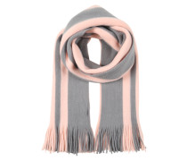 Schal mit Streifenmuster rosa / weiß