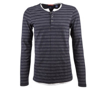 Pullover »Classic longsleeve double layer« blau