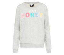 Sweater mit auffälligem Print hellgrau