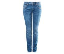 Catie Slim: Jeans mit Waschung blue denim