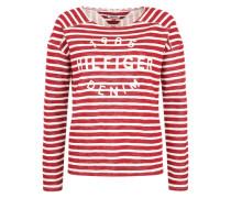 Sweatshirt mit Signature-Stitching rot