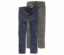 Stretch-Hose blau / grau