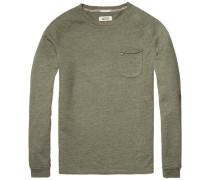 Sweatshirt 'thdm CN Hknit L/S 36' grünmeliert