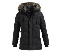 Jacke 'coin With RIB Collar' schwarz