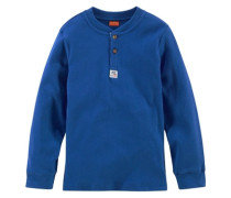 Langarmshirt für Jungen blau