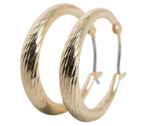 Strukturierte Reifen-Ohrringe gold