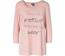 3/4-Arm-Shirt rosa