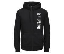 Print Sweatshirt schwarz