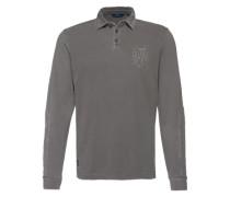 Poloshirt mit langen Ärmeln grau