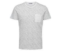 Baumwoll-T-Shirt schwarz / weiß