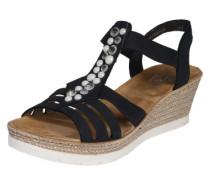 Sandalen mit Strass dunkelblau