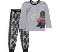 Schlafanzug Star Wars Nicolai für Jungen grau / rot / schwarz
