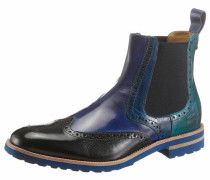 Chelsea Boots blau / petrol / schwarz