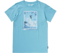 T-Shirt 'above' himmelblau