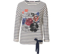 Sweatshirt mischfarben / schwarz / weiß