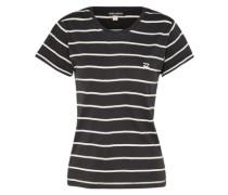 T-Shirt 'Soul Babe' schwarz / weiß