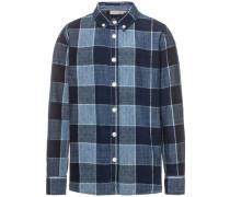 Langarmhemd 'nithern' blau