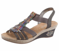 Sandalette mokka / mischfarben