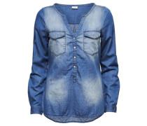 Detailliertes Jeanshemd blau