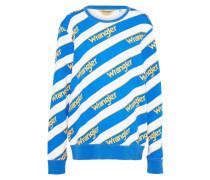 Sweatshirt 'b&y' blau / goldgelb / weiß