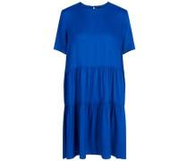 Short sleeved Minikleid blau