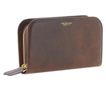 Jade Geldbörse Herrentasche Leder 24 cm dunkelbraun