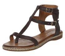 Sandale mit Fransendekor braun