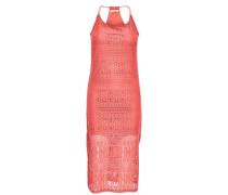 Spitzen-Kleid ohne Ärmel rot