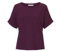 Shirt mit Struktur dunkellila