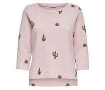 Bedrucktes Sweatshirt rosa