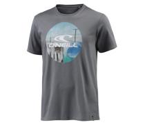 Look Back T-Shirt türkis / hellblau / grau / weiß