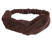 Glitzer-Print-Stirnband braun