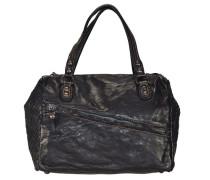 Cannella Handtasche Leder 31cm schwarz