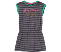 Jerseykleid grau / grün / pink