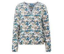 Shirt / Blouse gemusterte Bluse beige / blau / grün