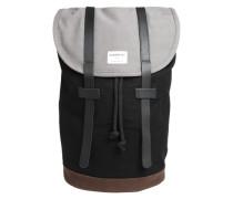 Unisex-Rucksack mit Lederdetails 'Stig' braun / grau / schwarz