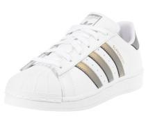 Sneaker 'Superstar' gold / weiß