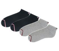 Sportfüßlinge (4 Paar) grau / schwarz
