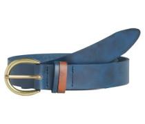 Leder-Jeans Gürtel blau