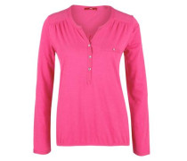 Blusenshirt in Slub Yarn-Design pinkmeliert