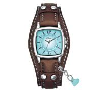 """Armbanduhr """"so-1339-Lq"""" blau / braun"""