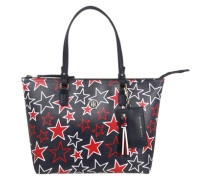 Wende-Shopper 'Star' navy / rot