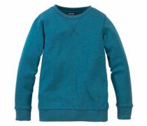 Sweatshirt in Melange-Optik für Jungen petrol