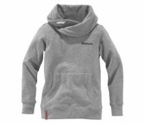 Sweatshirt mit Schalkragen graumeliert
