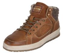 Sneaker mit Fleece-Fütterung cognac