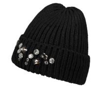 PIECES Mütze mit Ziersteinen schwarz