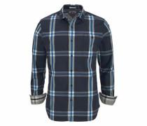 Karohemd 'thdm SL Stretch Check Shirt L/S 20' royalblau / dunkelblau / weiß