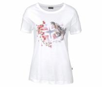 T-Shirt 'Sebhi' hellrot / weiß
